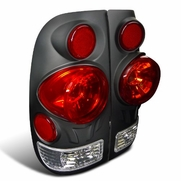 97-03 Ford F150 3D Styleside Euro Altezza Tail Lights - Black