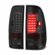 97-03 Ford F150 / 99-07 F250 F350 Superduty LED Tail Lights - Smoked