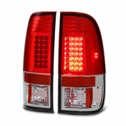 97-03 Ford F150 / 99-07 Superduty LED Tail Lights - Red / Clear ALT-YD-FF15097-LED-RC By Spyder