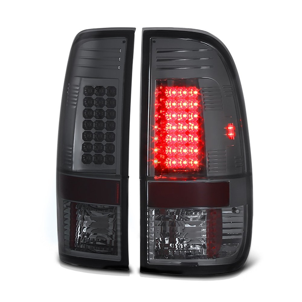 97 03 Ford F150 F250 Styleside Euro Style Led Tail Lights Smoked