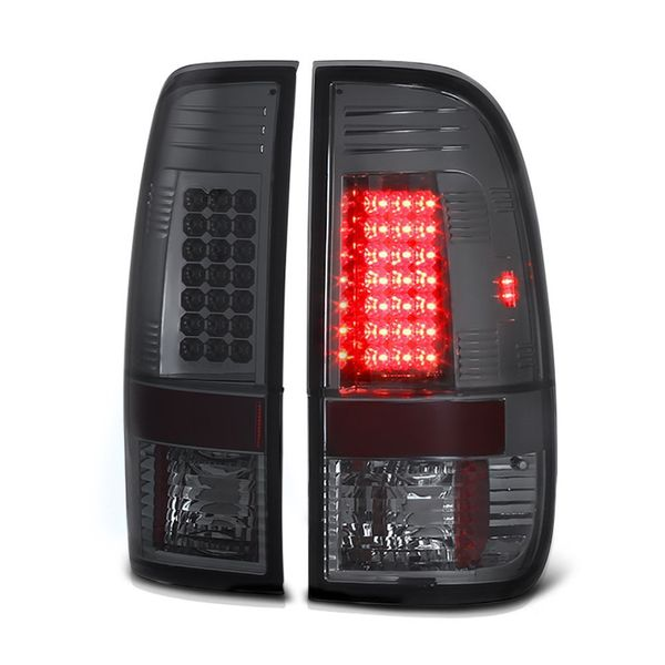 97-03 Ford F150 / 99-07 Superduty LED Tail Lights - Smoked ALT-YD-FF15097-LED-SM