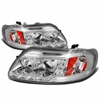 97-03 Ford F150 / Expedition Angel Eye LED Strip Projector Headlights Chrome