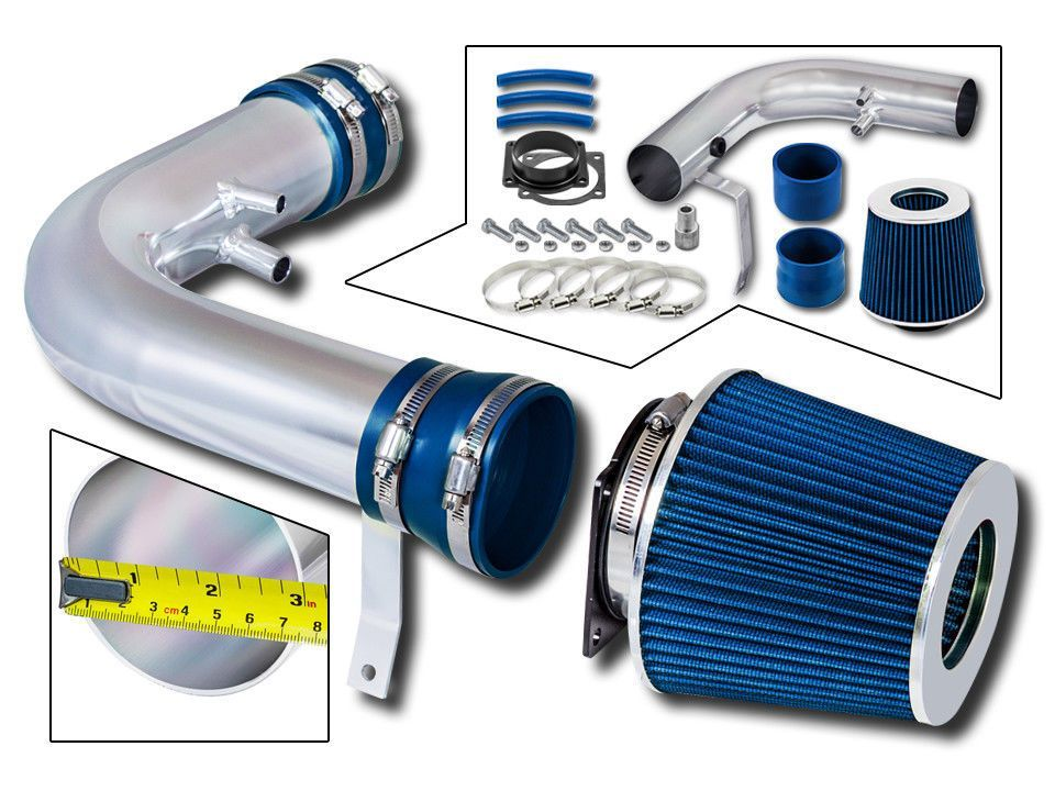 BLUE Filter for 97-03 F150 Expedition 4.6L 5.4L V8 Short Ram Air Intake Kit