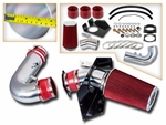 97-03 Ford F150 F250 Expedition Navigator 4.6L 5.4L Heat Shield Cold Air Intake - Red Filter