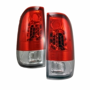 97-03 Ford F150 / F250 / F350 Euro Style LED Tail Lights - Red / Clear