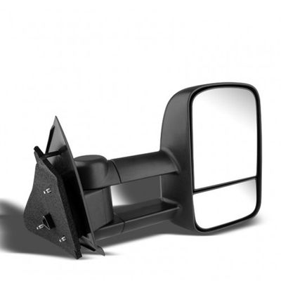 97-03 Ford F150 / F250 (Heavy Duty Size) Extendable Manual Adjustable Side Towing Mirrors - Passenger Side