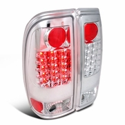 97-03 Ford F150 / F250 / Super Duty Euro Style LED Tail Lights - Chrome