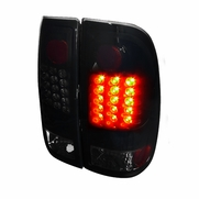 97-03 Ford F150 / F250 / Super Duty Euro Style LED Tail Lights - Gloss Black