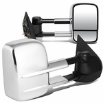 97-03 Ford F150 Pair of Chrome Textured Telescoping Manual Extenable Side Towing Mirrors