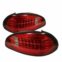 97-03 Pontiac Grand Prix Euro Style LED Tail Lights - Red / Clear