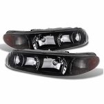 97-05 Buick Century / Regal Replacement Crystal Headlights - Black