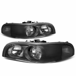 97-05 Buick Park Avenue OE-Style Replacement Headlights - Black