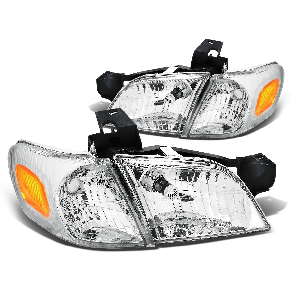 Chevy Venture Pontiac Montana Replacement Crystal Headlights Chrome Click To Enlarge