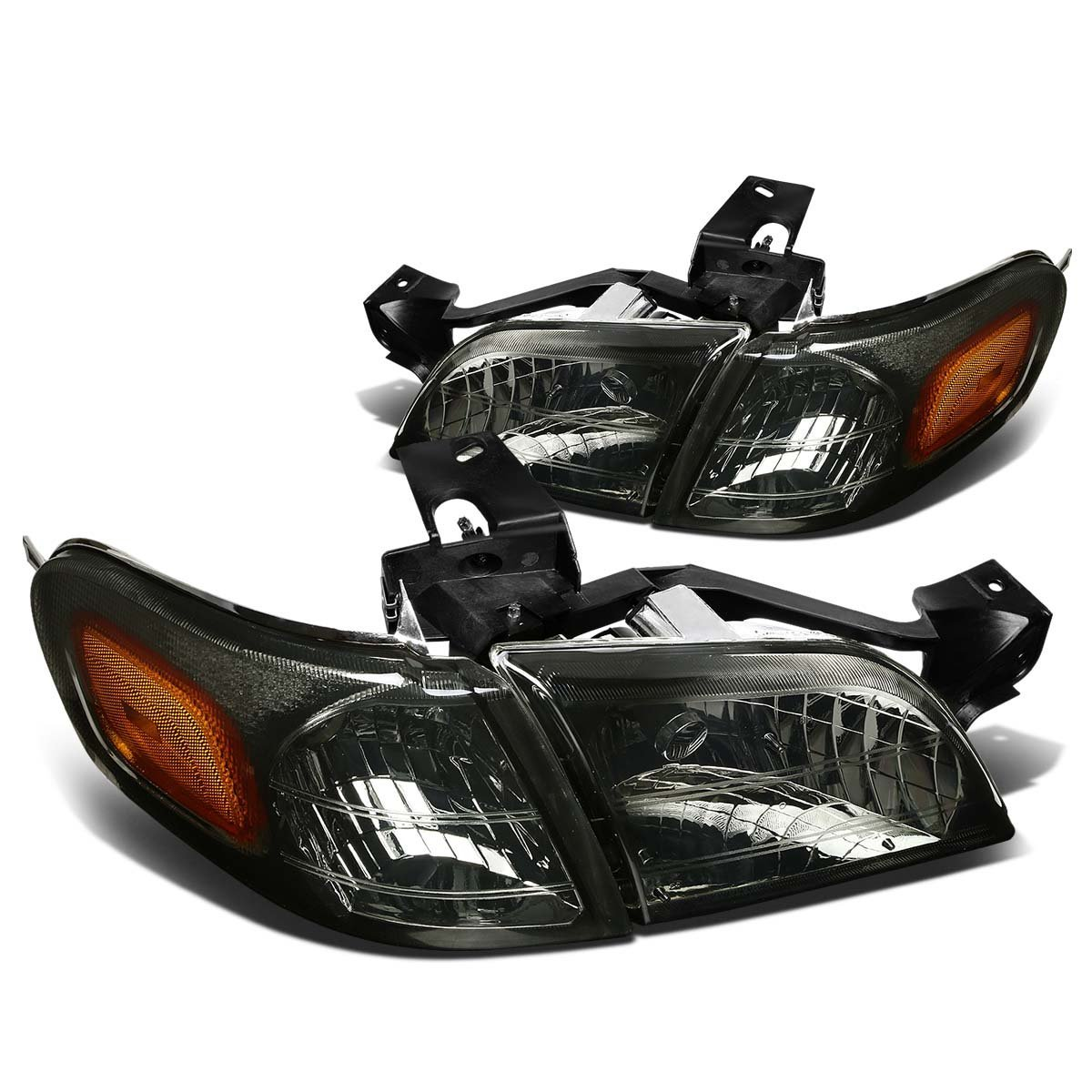 Chevy Venture Pontiac Montana Replacement Crystal Headlights Smoked Click To Enlarge