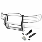 97-98 Ford Expedition / F-150 4WD Front Bumper Protector Brush Grille Guard (Chrome)