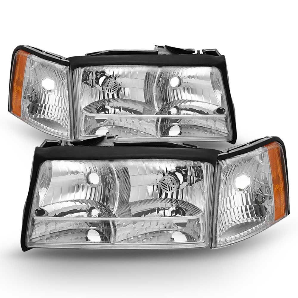 97 99 Cadillac Deville Replacement Headlights Pair