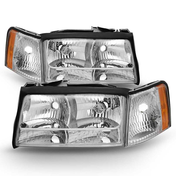 97-99 Cadillac Deville Replacement Headlights Pair