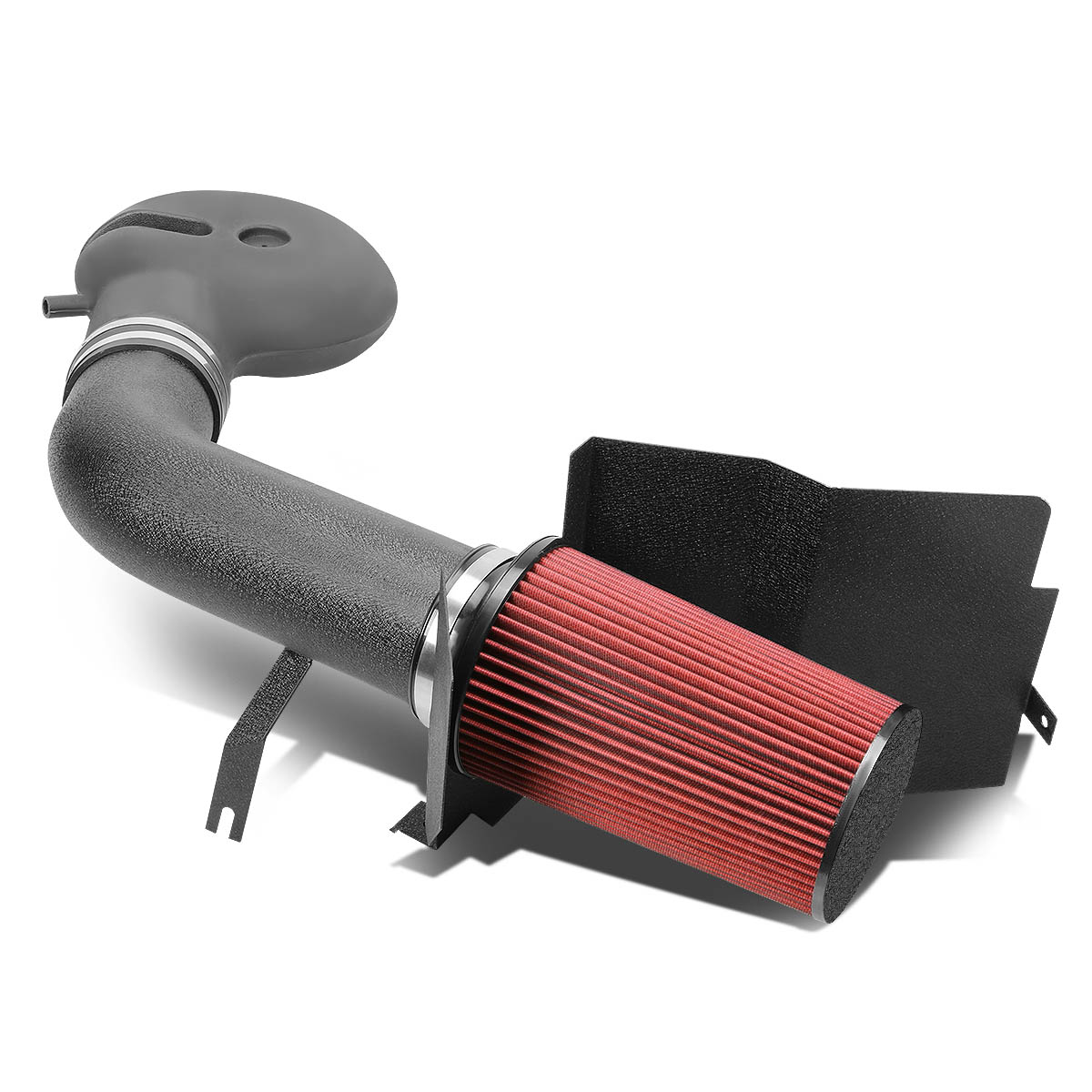 "FOR 97-99 DAKOTA//DURANGO 5.2//5.9 COATED ALUMINUM 4/""COLD AIR INTAKE+HEAT SHIELD"
