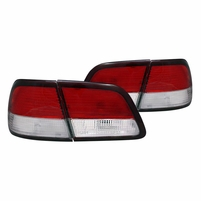 97-99 Nissan Maxima JDM Style Red Clear Tail Lights