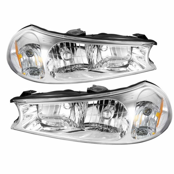 98-00 Ford Contour Replacement Crystal Headlights - Pair