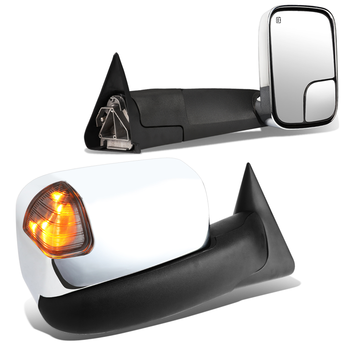 Power Heated Tow Mirrors w//Turn Signal Light 1998-2002 Dodge Ram 2500 3500 AUTOSAVER88 Towing Mirrors Compatible with 1998-2001 Dodge Ram 1500