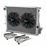 """98-02 BMW Z3 M Coupe/Roadster E36 3.2L MT Aluminum Racing 3-Row Radiator+10"""" Fans (Black)+Mounting Kit"""