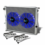 """98-02 BMW Z3 M Coupe/Roadster E36 3.2L MT Aluminum Racing 3-Row Radiator+10"""" Fans (Blue)+Mounting Kit"""