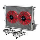 """98-02 BMW Z3 M Coupe/Roadster E36 3.2L MT Aluminum Racing 3-Row Radiator+10"""" Fans (Red)+Mounting Kit"""