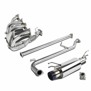 DNA 98-02 Honda Accord 2.3L 4Cyl Stainless Steel Catback Exhaust - Burnt Tip + Racing Header