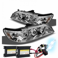 HID Xenon + 98-02 Honda Accord Angel Eye Halo Projector Headlights - Chrome