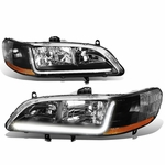 98-02 Honda Accord LED Optic-DRL Replace Headlights - Black