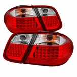 98-02 Mercedes Benz W208 CLK Red Clear LED Tail Lights