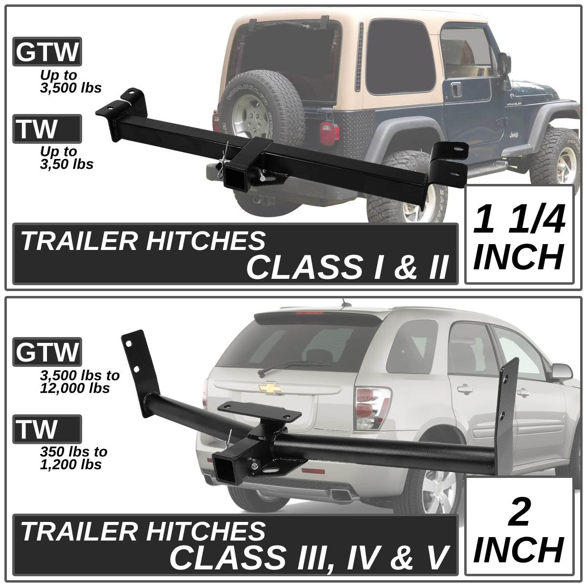 98-03 Dodge Durango Cl III Trailer Hitch Receiver Rear ... on