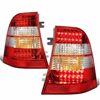98-03 Mercedes-Benz M-Class W163 Pair of Clear & Red Lens LED Brake + Signal Tail Lights