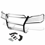 98-03 Mercedes M-Class W163 Front Bumper Protector Brush Grille Guard (Chrome)