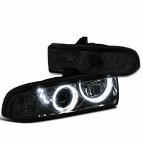 98-04 Chevy S10 Pickup Halo Projector Headlights - Smoked