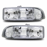 98-04 Chevy S10 Pickup Truck Factory Style Headlights - Chrome