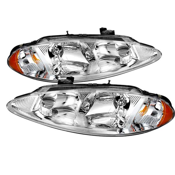 98-04 Dodge Intrepid Crystal Replacement Headlights - Chrome