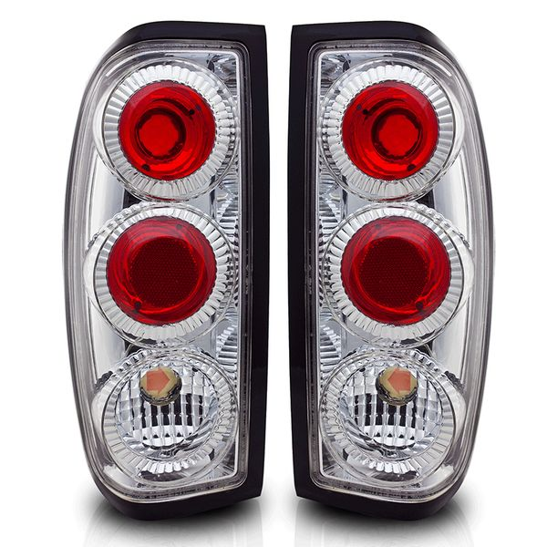 98-04 Nissan Frontier Euro Style Altezza Tail Lights - Chrome