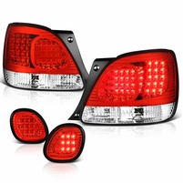 98-05 Lexus GS300 GS400 LED Tail Lights + Truck Piece - Red Clear
