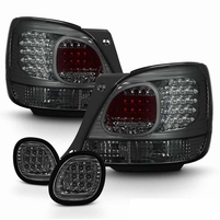 98-05 Lexus GS300 GS400 LED Tail Lights + Truck Piece - Smoked