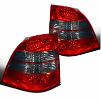 98-05 Mercedes Benz W163 M-Class Red Smoke LED Tail Lights