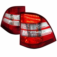 98-05 Mercedes Benz W163 ML350 ML500 ML320 ML430 ML55 AMG  Performance LED Tail Lights - Red / Clear