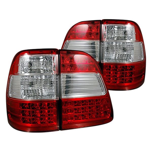 98-05 Toyota Land Cruiser Euro Style LED Tail Lights - Red / Clear