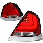 98-11 Ford Crown Victoria LED Tail Lights - Red Clear