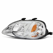99-00 Honda Civic Left OE Style Headlight Headlamp Replacement HO2502113