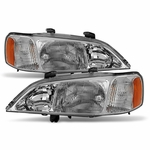 99-01 Acura TL Crystal Replacement Headlights - OEM Clear