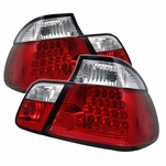 99-01 BMW 3-Series E46 4-Door Sedan Performance LED Tail Lights - Red / Clear