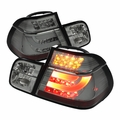99-01 BMW 3-Series E46 4DR Fiber-Optic Style LED Tail Lights - Smoked