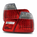 99-01 BMW 3-Series E46 Sedan Performance LED Tail Lights - Red / Clear